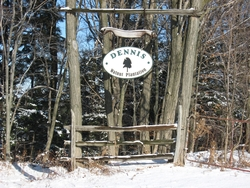 entrance sign on Walnut Plantation